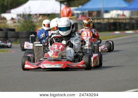 A Line Of Racing Go Karts