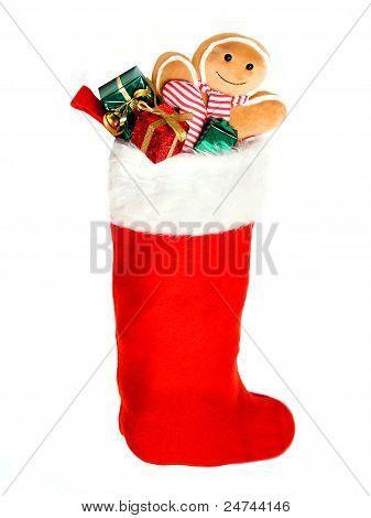 Rote Weihnachtsstrumpf