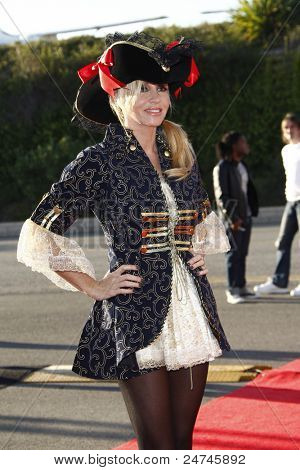 SANTA MONICA, CA - OCT 29: Camille Grammer at the 18th Annual 'Dream Halloween Los Angeles' at Barker Hangar on October 29, 2011 in Santa Monica, California
