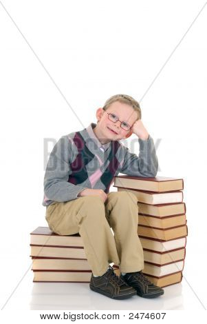 Young Boy On Book
