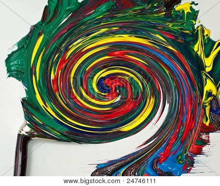 Whirlwind out of a paintbrush