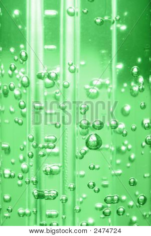 Bubbles In Liquid - Green