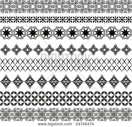 Elementos do padrão (cada tira é um grupo de elementos orgânicos que podem ser separadas)