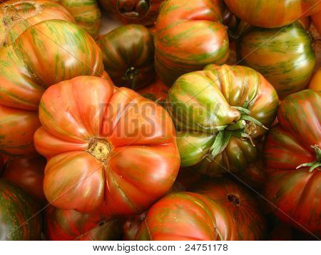 some heirloom tomatoes