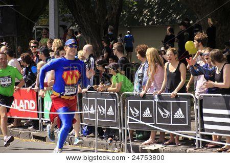 Marathon Run Race Superhero