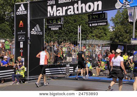 Marathon Rennen laufen