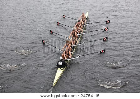 Northeastern University races in the Head of Charles Regatta