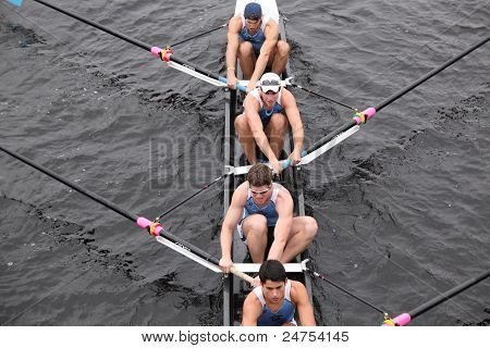 Columbia University races in the Head of Charles Regatta