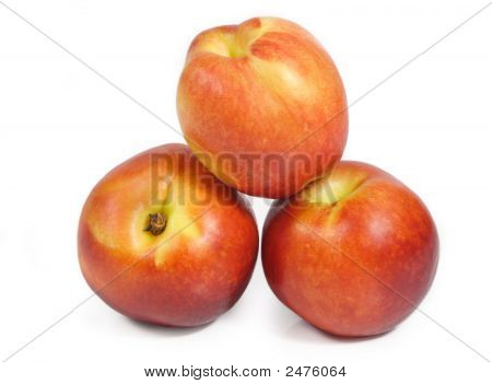 Nectarines Isolated On White