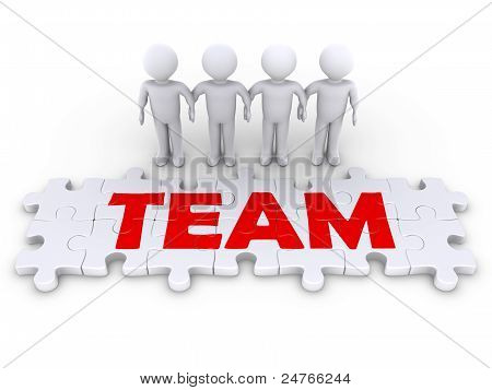 Puzzle Team With Men