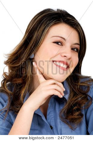 Casual Woman Portrait - Smiling