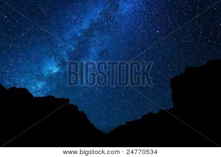 Milky Way Galaxy, Stars at Night