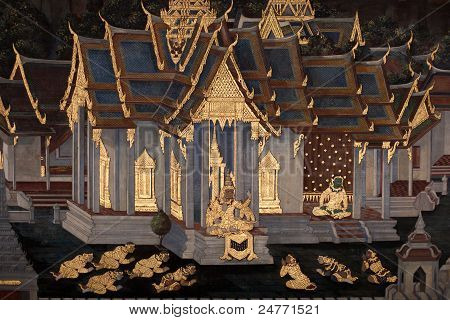 Thai Ramayana Painting.