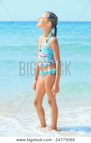 Cute girl on the beach
