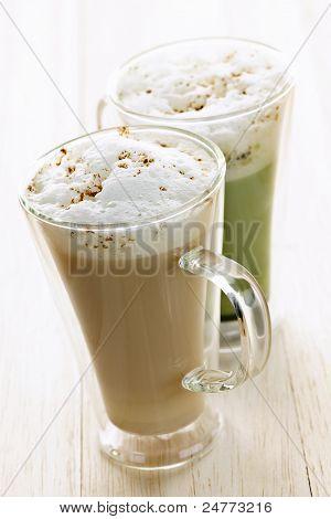 Chai And Matcha Latte Drinks