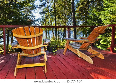 Forest Cottage Deck And Chairs
