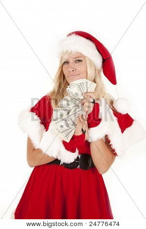 Mrs Santa Money Smirk