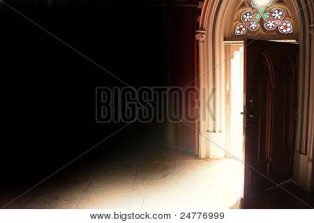 offenen Tür