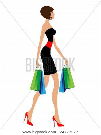 Sexy Woman Shopping