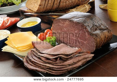 Roast Beef Sandwich Buffet