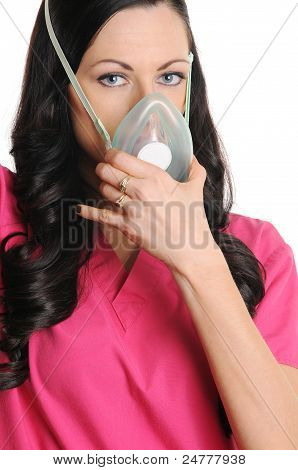 Nurse With CPR Mask