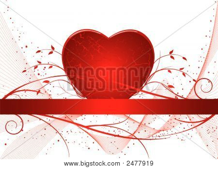 Romantic Artistic Background Vector