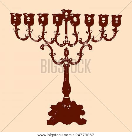 Vector of a Channukah Menorah