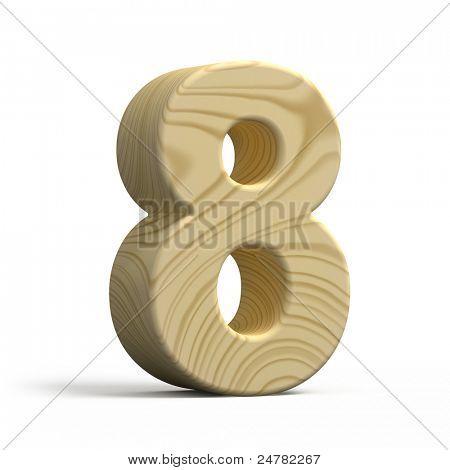 3D Holz Zahlen