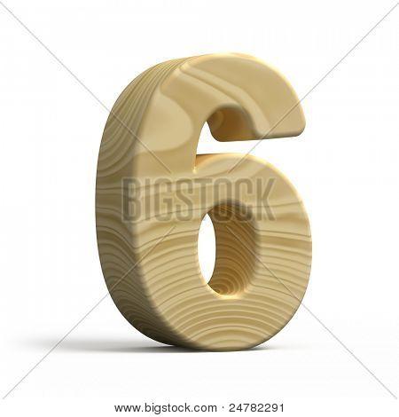 3d Wood Numbers