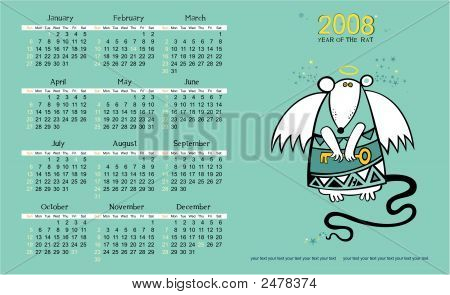 Angel Rat Calendar For 2008