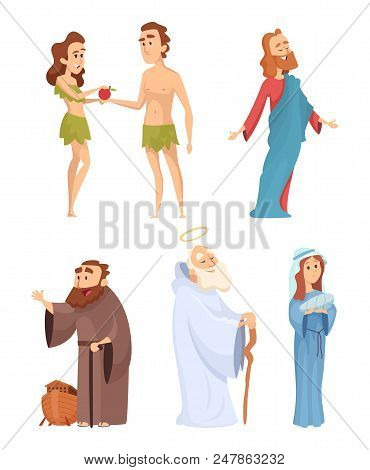 Historical Characters Of Bible Vector