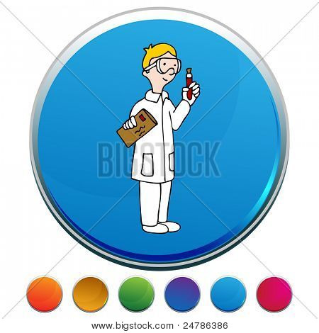 An image of a Lab Technician button set.