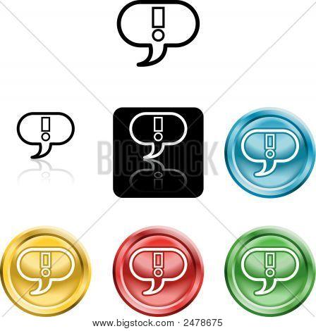 Exclamation Mark Icon Symbol