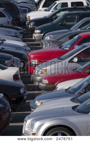 Cars Onn A Open Parking Lot