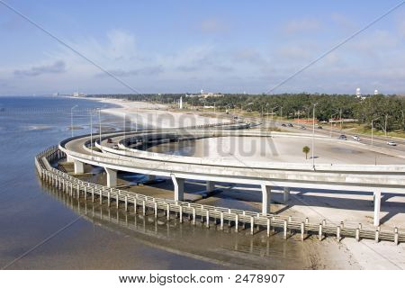 Interstate Highway Beach Walkway