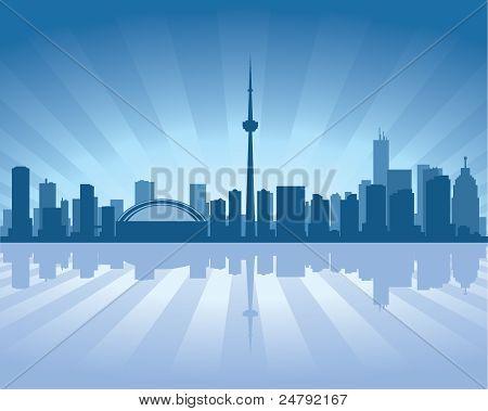Toronto Skyline mit Spiegelbild im Wasser