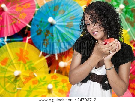 Black Woman With An Apple