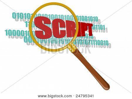 Símbolo de Scripts de inspecionar