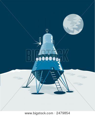 Lunar Module Landing On The Moon