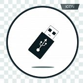 Usb Flash Icon Vector, Flash Drive Vector Icon On Background. poster