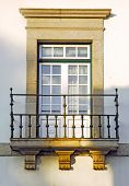 Portugal, Lamego: Ancient Monument, Typical Stone Window poster