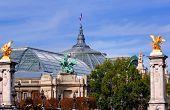 France, Paris: Famous Monuments Statue Of Grand Palais poster