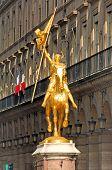 France, Paris: Ancient Famous Monuments, Statue Of Jeanne D Arc poster