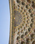 Middle East Ancient Dome Decor. Dome Of An Ancient Mosque, Oriental Ornaments poster