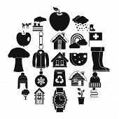 Country House Icons Set. Simple Set Of 25 Country House Vector Icons For Web Isolated On White Backg poster