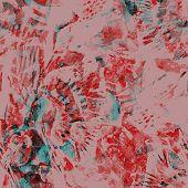 Watercolor Exotic Seamless Pattern. Ikat Colorful Paint Background. Oriental Splash Watercolour Desi poster