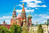 St Basils Cathedral And Moscow Kremlin poster
