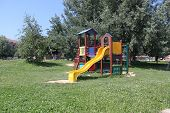 image of day care center  - A big colorful children playground equipment - JPG