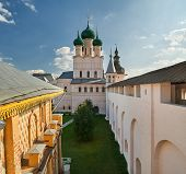 Assumption Cathedral And Church Of The Resurrection In Rostov Kr poster