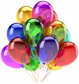 Balloons party happy birthday decoration rainbow multicolor translucent